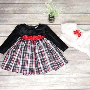 Youngland & Little Lass Dress & Shawl Set 2T,  24M